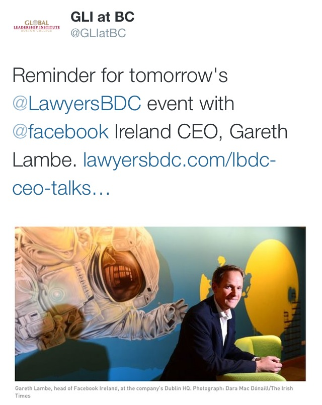 LBDC Talk with CEO of Facebook Ireland – LBDC | Lawyers
